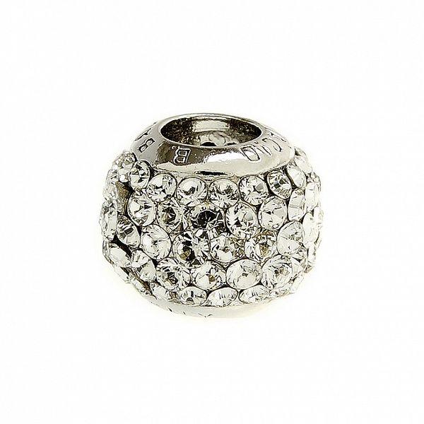 Dámský stříbrný korálek Bacio s čirými kamínky