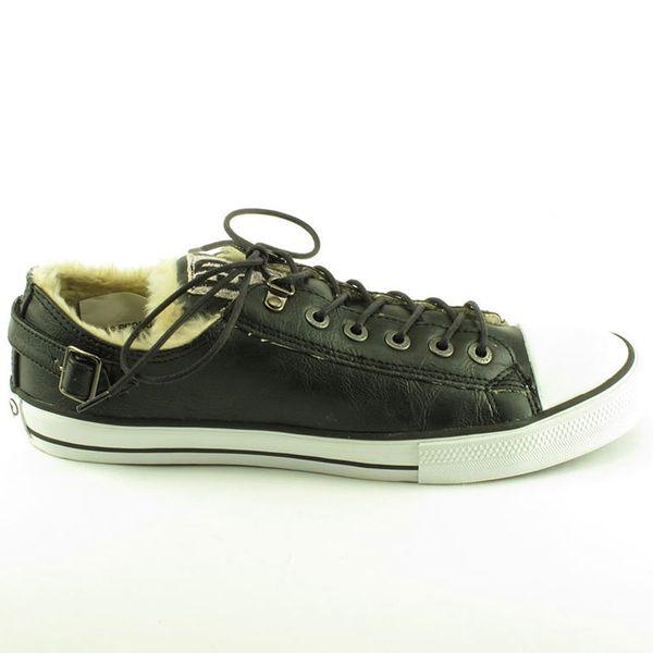 Pánské boty Ed Hardy černé s kožíškem