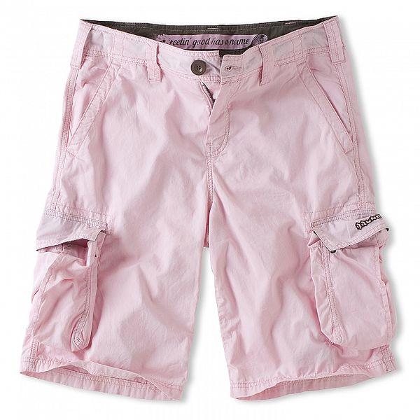 Pánske svetlo ružové šortky Brunotti