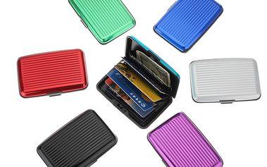 Vodotěsné hliníkové pouzdro na platební karty a vizitky v 7 barvách a poštovné ZDARMA! - 2102647