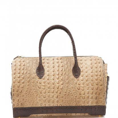 Dámská béžovo-hnědá kabelka Shambala v efektu krokodýlí kůže