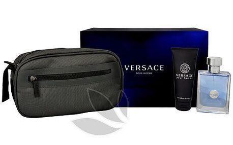 Versace Versace Pour Homme - toaletní voda s rozprašovačem 100 ml + sprchový gel 100 ml + kosmetická taška