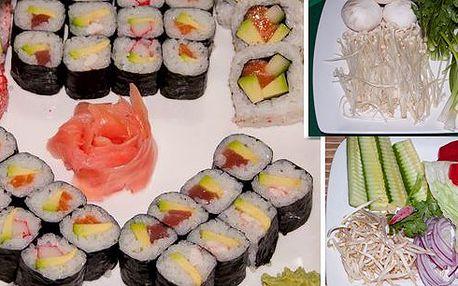 55% sleva na úžasné sushi, set 48 ks za 373 Kč,lze vzít s sebou, nebo specialita HOTPOT pro 2-4 osoby, masový nebo vegetariánský horký hrnec