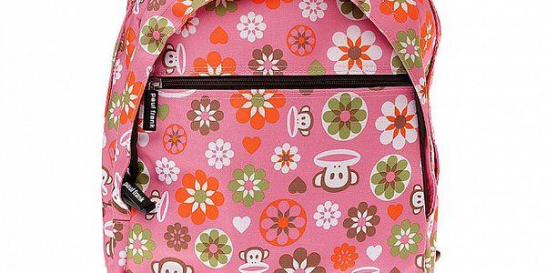 Dámský růžový batoh Paul Frank s veselým potiskem