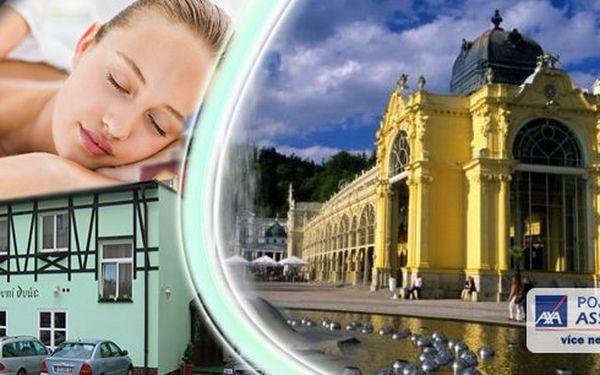 Regenerační lázeňský wellness pobyt pro dvave světoznámých Mariánských Lázních v hotelu Poštovní dvůr*** s bohatou polopenzí, lahví vína, kávou i zákuskem. Až 22 wellness procedur - masáže, koupele, zábaly, solná jeskyně! Užijte si léto a nechte se opečovávat od hlavy až k patě.