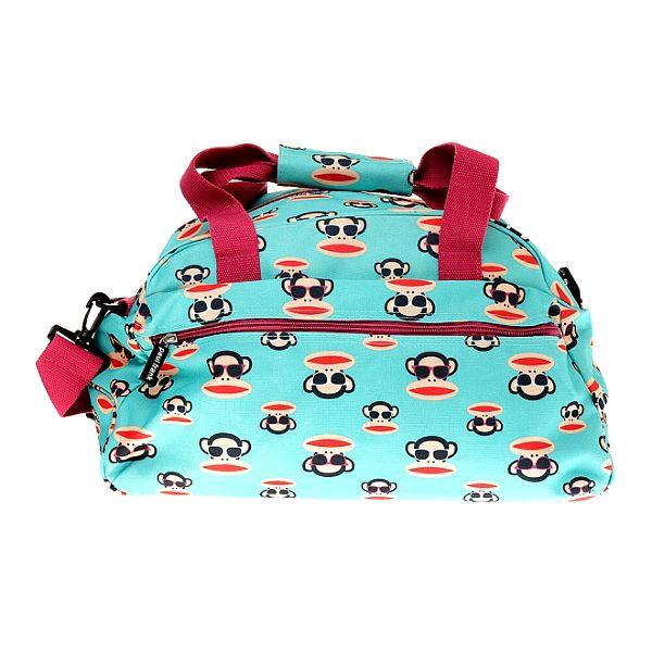 Světle modrá cestovní taška Paul Frank s veselým potiskem
