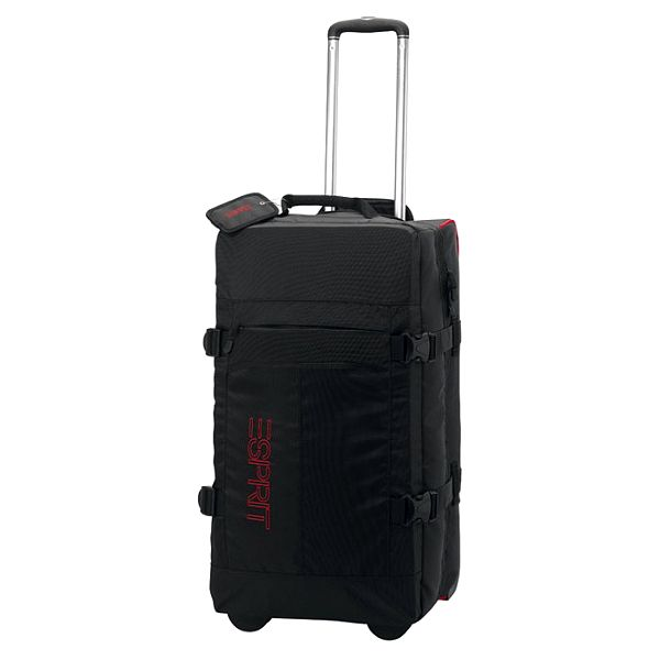 Černá/červená cestovní taška na kolečkách ESPRIT