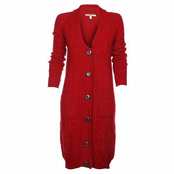 Dámsky červený kardigan Uttam Boutique