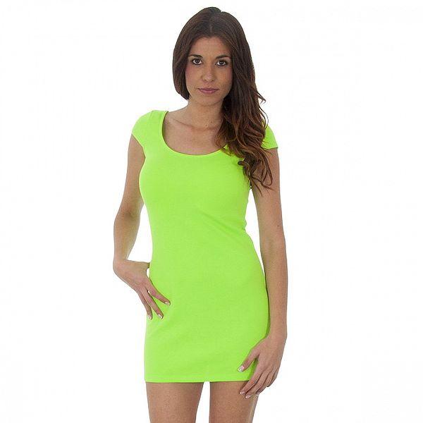 Dámske neónovo zelené šaty Maria Villoresi