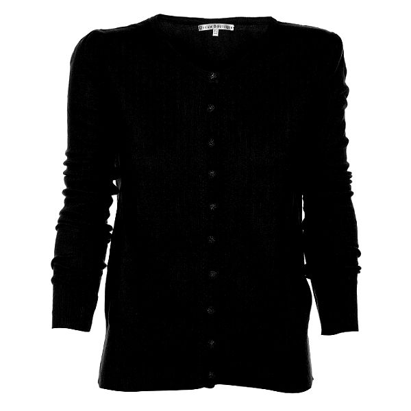 Dámsky čierny kardigan Uttam Boutique