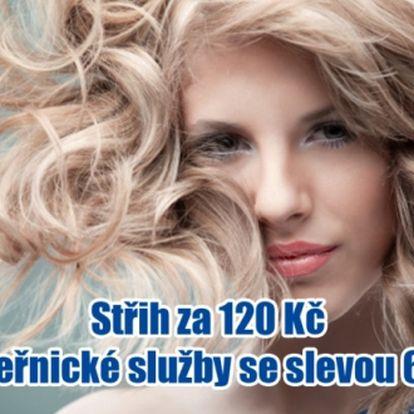 Profesionální kadeřnické STUDIO IN v Brně. Střih za 120 Kč, střih s melírem nebo barvou za 340 Kč!!
