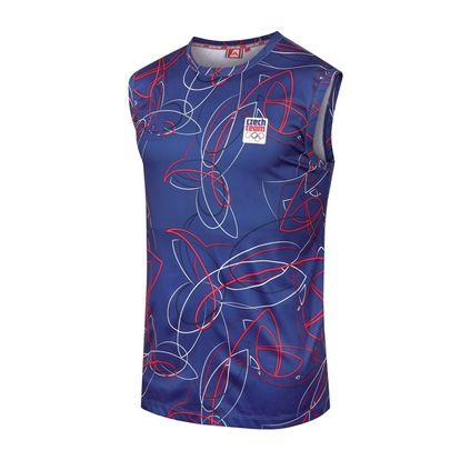 Pánské triko bez rukávu Alpine Pro tmavě modré