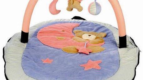Bino cestovní hrací deka s hrazdou s roztomilým medvídkem
