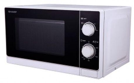 Mikrovlnná trouba Sharp R-200(W)E s kapacitou 20l. Výkon 800 W.