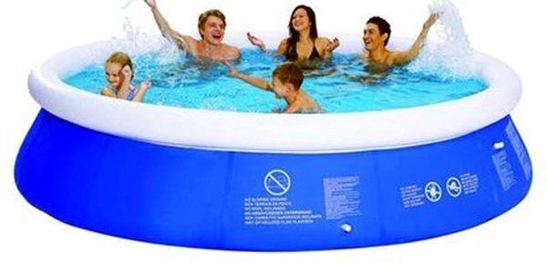 Bazén s nafukovacím prstencem včetně kartušové filtrace.