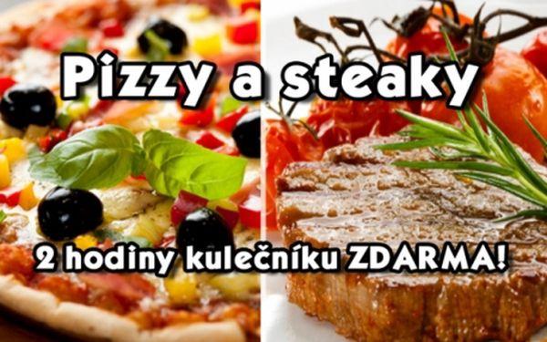 Restaurace AQUA na plaveckém stadionu Slavia na Praze 10! Pizzy, steaky, MAXI koktejl a 2h kulečníku ZDARMA!
