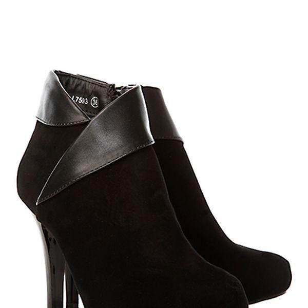 Semišové boty na podpatku BELLE WOMAN