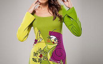 Bavlněné šaty s dlouhým rukávem (Avispada)