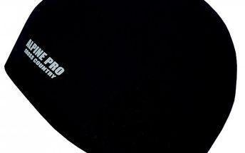Alpine Pro Palas Black M - Pánská větruodolná softshellová čepice Palas s reflexní potiskem.