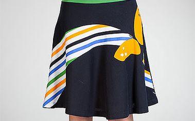 Černá sukně se zeleným lemem (Avispada)