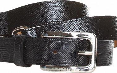 Dámský černý pásek se sponami Roccobarocco