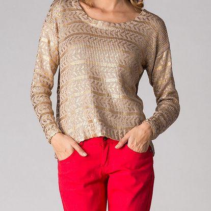 Dámsky zlatý sveter Soap Art