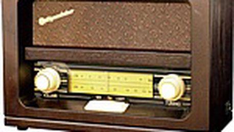 Retro rádio Roadstar HRA 1520 v dřevěném provedení