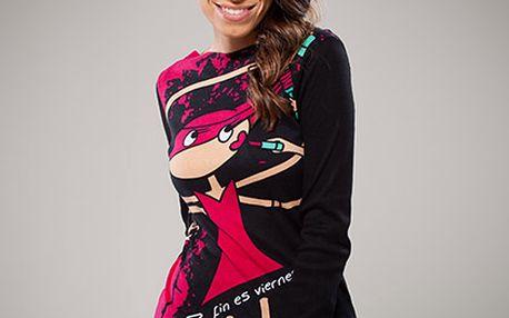 Bavlněné černé tričko s dlouhým rukávem (Avispada)