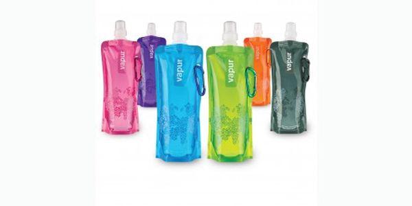 Cenová bomba! 29 Kč za skládací láhev EKO Vapur! Neváhejte a pořiďte si tuto oblíbenou láhev i Vy! Je skládací, zmrazovací, připínací a na více použití :-)