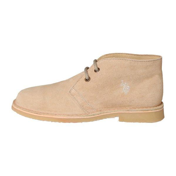 Dámské kotníkové boty U.S. Polo Assn. světle béžové