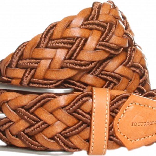 Dámský hnědý pletený pásek Roccobarocco