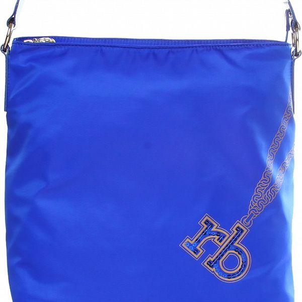 Dámska žiarivo modrá nylonová kabelka Roccobarocco