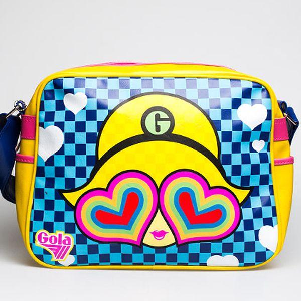 Modro-žlutá taška