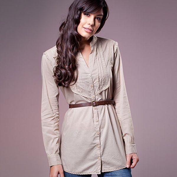 Béžová košile s páskem (Ada Gatti)