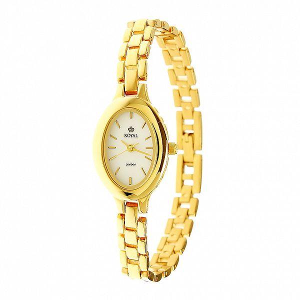 Dámské zlaté ocelové hodinky Royal London