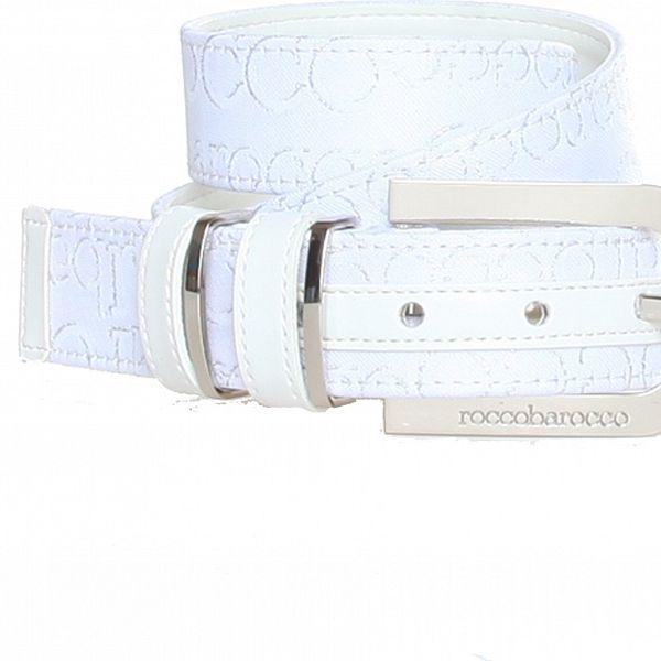 Dámsky biely opasok so vzorkom Roccobarocco
