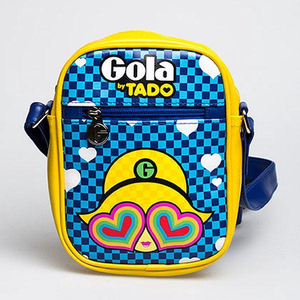 Střední modro-žlutá taška