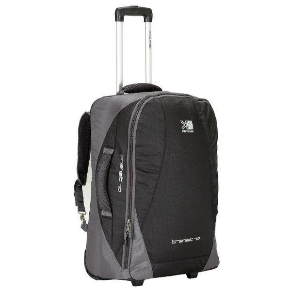 Cestovní taška Karrimor Transit Wheel Case perfektní na delší cestování.