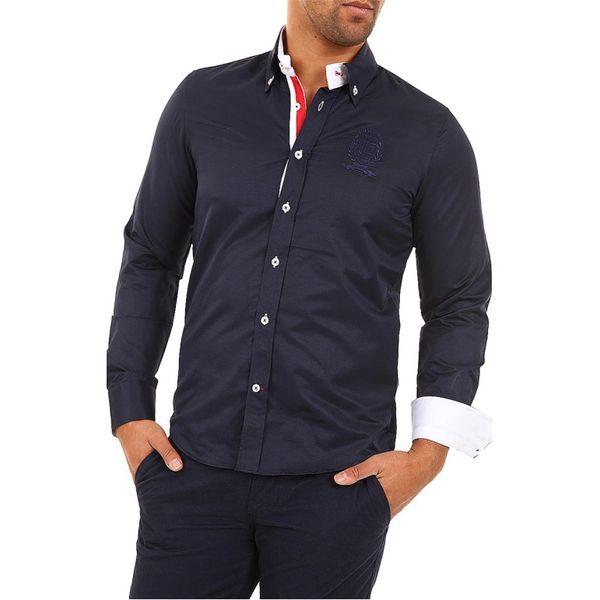 Pánská košile Carisma tmavě modrá bílý lem