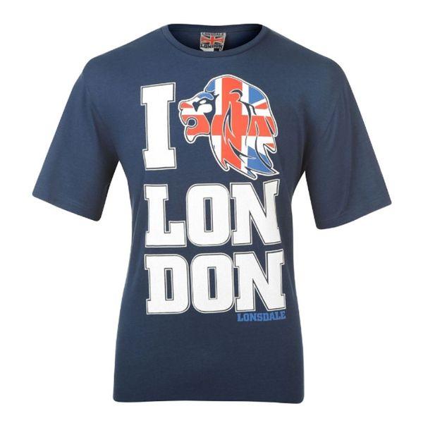 Pánské tričko Lonsdale modré s potiskem