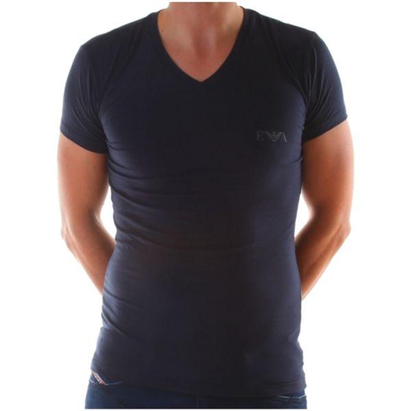 Pánské tričko Armani tmavě modré úzké