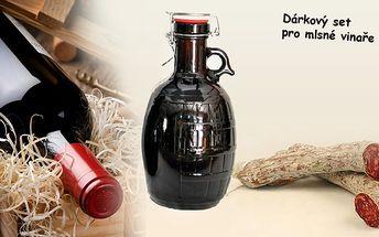 Gurmánský dárkový set pro všechny mlsné vinaře