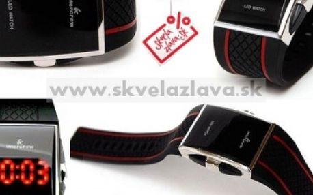 Silikónové LED hodinky s oceľovým ciferníkom za 7,40 € aj s poštovným.