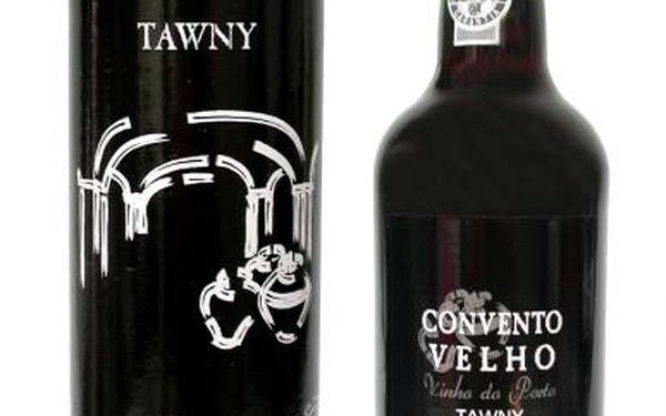 Porto convento velho tawny 0,75l - portugalské portské víno, baleno v tubě.