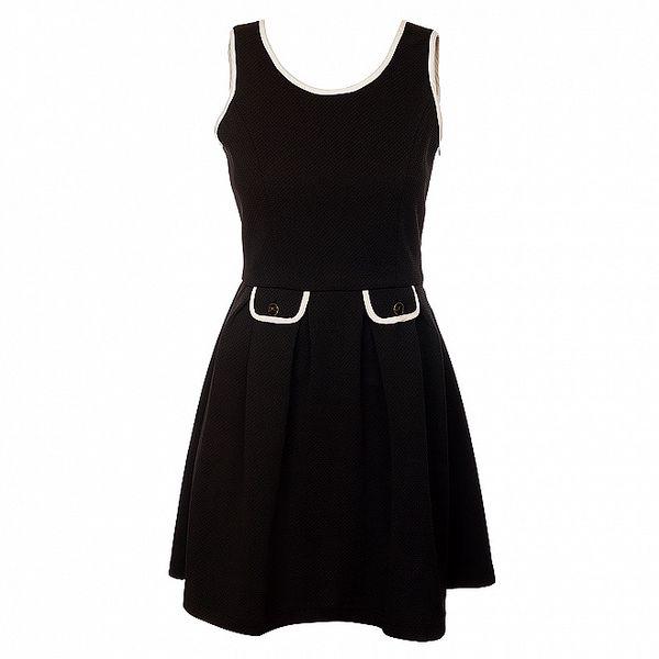 Dámské černé šaty Yumi s ozdobnými patkami