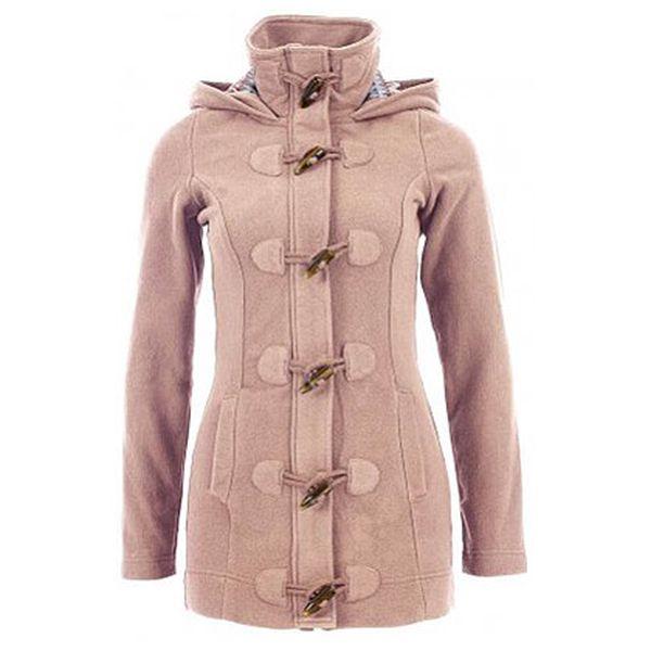 Světle hnědý dámský fleecový kabát