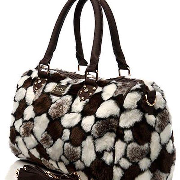 Trendy kožíšková kabelka Fashion Boutique
