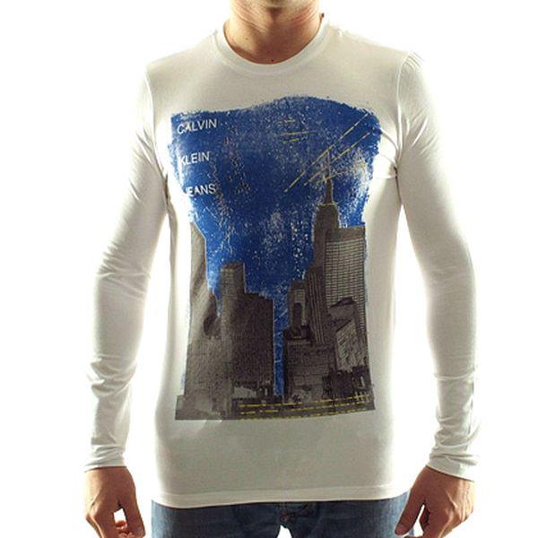 Pánské bílé triko NY