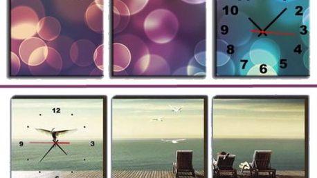 Designové hodiny jako obraz na kvalitním plátně!