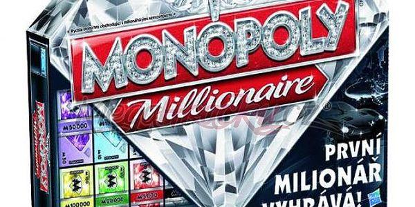 Společenská hra Monopoly Millionaire. Klasická hra na obchodování a investování.